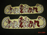 2 AUTHENTIC COALITION BMX BICYCLES STICKERS #1 / DECALS AUFKLEBER
