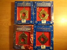 Lot of 4 Hallmark American Spirit coin ornament