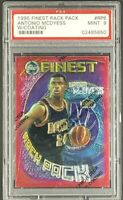 1995 Topps Finest Rack Pack #RP6 Antonio McDyess RC Rookie PSA 9 *Only 2 Higher*