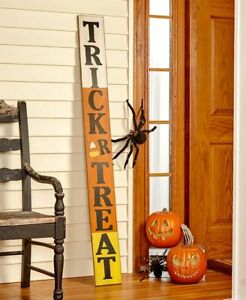 5-Ft. Tall Tri-Color Trick or Treat Halloween Porch Sign w/ Candy Corn
