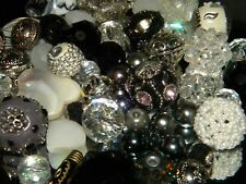 NEW 25 Black/ White/ Silver Jesse James mix beads random pick lot Free shipping