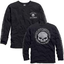 Harley-Davidson ® para hombre Willie G. Cráneo Mangas Largas Camiseta Negro 99091-14VM