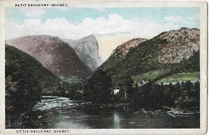 RARE OLD POSTCARD - PETIT SAGUENAY - QUEBEC - CANADA C.1912 Little Saguenay