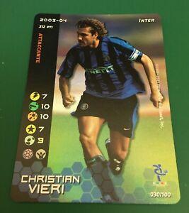 FIGURINA CARDS WIZARDS FOOTBALL CHAMPIONS 2003-04 FOIL INTER VIERI