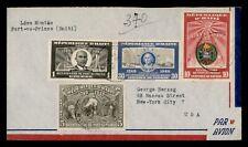 DR WHO 1950 HAITI PORT AU PRINCE AIRMAIL TO USA  g09333