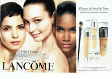 Publicité Advertising 127  2012   Lancome (2p)  maquillage fond de teint