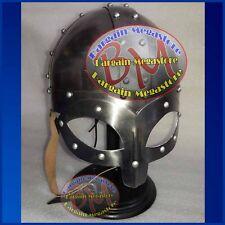 Viking Mask Helmet w/ Inner Liner Drama Re-enactment larp role-play fancy-dress