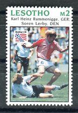 Briefmarke Losotho Fußball WM 1994 USA FEHLER Rummenigge / Brehme ** RAR BR584