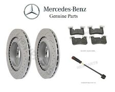 Mercedes W204 C63 AMG Front Brake Disc Rotors with Brake Pad Set and Sensor OES