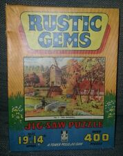 Complete 400pc VTG Tower Press Jigsaw Puzzle Rustic Gems The Windmill