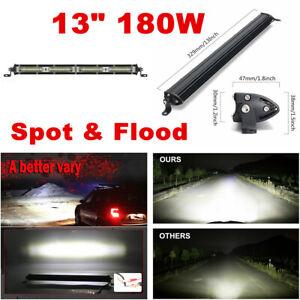 1pcs 13Inch White LED Work Light Bar Spot Flood Combo Off Road Driving Fog Light