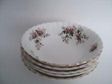 """5 Royal Albert Lavender Rose Cereal All Purpose Bowls NICE! 6 1/4"""""""