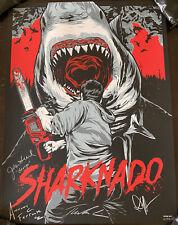 Sdcc 2013 Sharknado Cast Signed Autographed Movie Poster Art mondo shark jaws