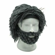 Knitted Beard Hat for Men Crochet Mustache Hat for Winter Mens Bicycle Ski Hat