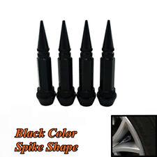 4x Black Spike Shape Tire/Wheel Air Stem Valve Caps 60MM for Car Truck Auto Bike