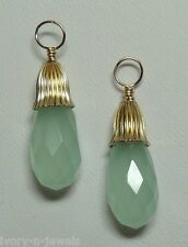 FANCY Mint Green Amazonite INTERCHANGEABLE Earring Charms Earring Jackets YG