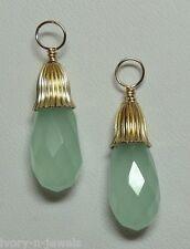 FANCY Mint Green Amazonite INTERCHANGEABLE Earring Charms Earring Jackets YG