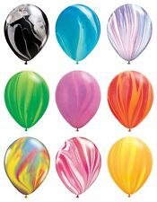 "10Pcs 12"" Colorful Agate Latex Balloons Party Decoration Tie-Dye Baby Birthday"