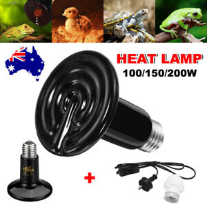 Ceramic Heat Lamp Reptile Incubator Infrared Bearded Dragon Brooder Turtle Snake
