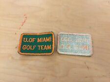 golf patch, VINTAGE  patch,university of miami,golf team nOS, 1960's