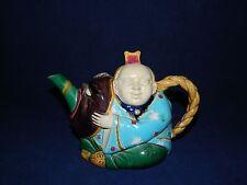 Antique Circa 1870's Minton Majolica Chinaman Teapot Exceptional Condition
