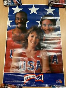 All The Way U.S.A.1984 Olympics Poster Mary Decker Edwin Moses Alberto Salazar
