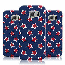 RED WHITE & BLUE STARS PATTERN CASE COVER FOR SAMSUNG GALAXY MOBILE PHONES