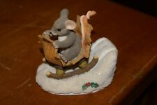 "Charming Tails A One Mouse Open Sleigh 3.5"" Figurine 98/195 Mib Fitz& Floyd Box"