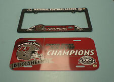 2002 TAMPA BAY BUCCANEERS SUPER BOWL XXXVII CHAMPIONS LICENSE PLATE & FRAME