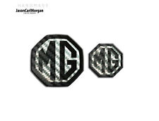 MG ZT LE500 Saloon MK1 Front And Rear Emblem Badge Insert 59mm 40mm Black Carbon