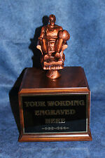 Fantasy Basketball 18 Year Perpetual Trophy with Wood Base. Free Engraving!