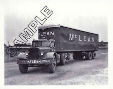McLEAN TRUCKING CO. 1945 AUTOCAR/FRUEHAUF 8x10 B&W Photo #1, Winston-Salem, NC