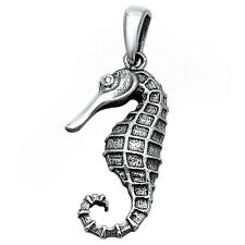 Sea Horse .925 Solid Sterling Silver Pendant