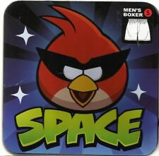 Rovio Briefly Stated Angry Birds Space Men's Boxer w/Gift Tin Size S *Brand New