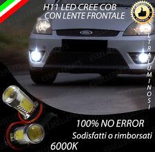 COPPIA LAMPADE FENDINEBBIA H11 LED CREE COB CANBUS FORD FIESTA V 6000K