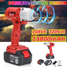 13800mAh 108VF 320Nm Electric Cordless Impact Wrench Gun Driver Drill Tools