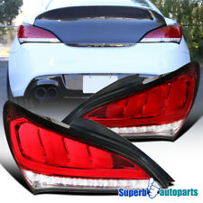 For 2010-2016 Hyundai Genesis Coupe Red Sequential Signal LED Tail Lights Pair
