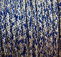 Dyneema Evolution Lite Race 6,7,8mm  SK78 Per Metre Kingfisher Ropes White/Blue