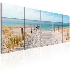 STRAND MEER LANDSCHAFT Wandbilder xxl Bilder Vlies Leinwand c-A-0107-b-m