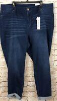 Workshop republic skinny jeans womens 22W new high waist whiskering ankle Z6