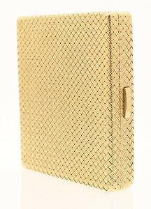 Vintage Woven 14K Yellow Gold Woven Cigarette Case 146.5 Grams