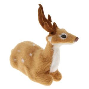 Simulation Plush Deer Forest Animal Fairy Garden Reindeer Elk Doll Lying