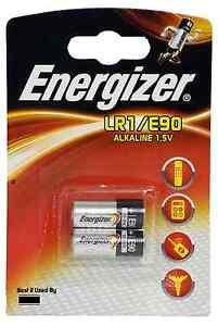 Energizer LR1 Alkaline 1.5V Batteries N KN MN9100 E90 4001 AM5 910A - Pack of 2