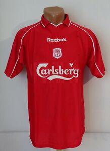 LIVERPOOL 2000/2001/2002 HOME FOOTBALL SHIRT SOCCER JERSEY SIGNED REEBOK BOYS XL