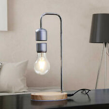 Magnetic Wooden Base Levitating Floating Led Light Bulb Desk Lamp