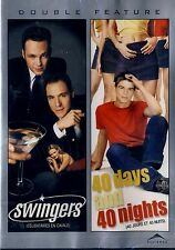 NEW DOUBLE FEATURE DVD // SWINGERS  & 40 DAYS and 40 NIGHTS // JOSH HARNETT
