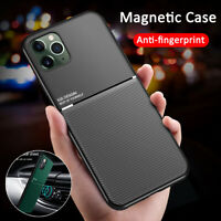 For iPhone 11 Pro XS Max Xr 8 Shockproof Magnetic Silm Silicone Back Case Cover