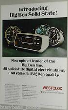 1974 Westclox ad, Big Ben Alarm Clock, 4 models
