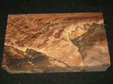 Curly Spalted English Walnut Lumber Block Carving Craft Art Knife Call 11""