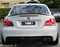 BMW E82 ABS SPOILER 1 SERIES COUPE BOOT TRUNK REAR PERFORMANCE UK SELLER